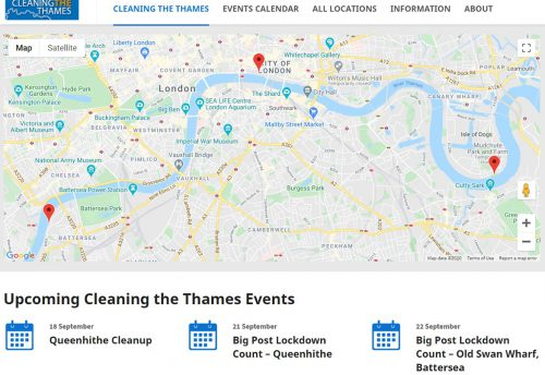 The Port of London Authority (PLA) is helping people find out where they can make a difference to the condition of the Thames foreshore with a new website, Cleaning the Thames, showing planned clean-ups.